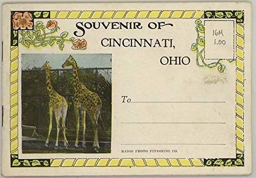 Souvenir of Cincinnati and Its Zoo - Vintage 1916 Promotional Mailing Booklet