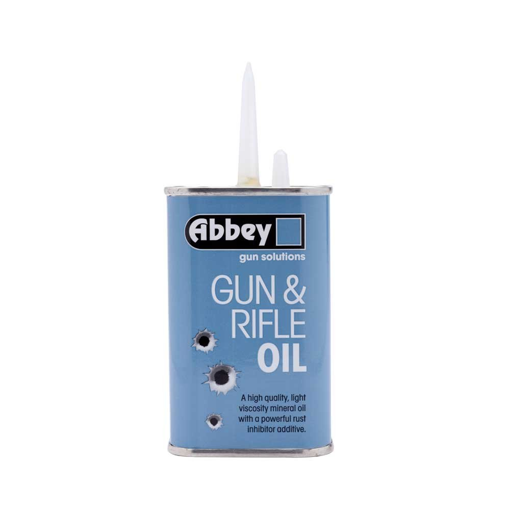 ABBEY Pistola y Rifle Aceite lubricante Escopeta Pistola de Aire Airgun Lube 125 ML Dropper ABBGUNOIL