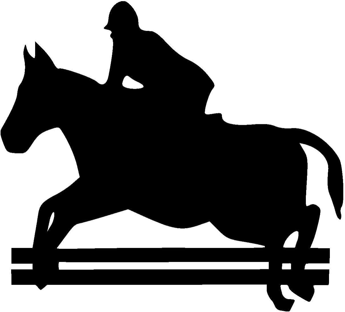 Horse Sticker Sport Scene Horse Riding The Black 070 30 X 27cm Amazon Co Uk Kitchen Home