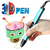AXUIUXA 3D Printing Pen, Professional Printing 3D Pen with OLED Display,Upgrade Intelligent 3D Pen for 3D Arts & Crafts Drawing and Doodling with Free PCL Filament