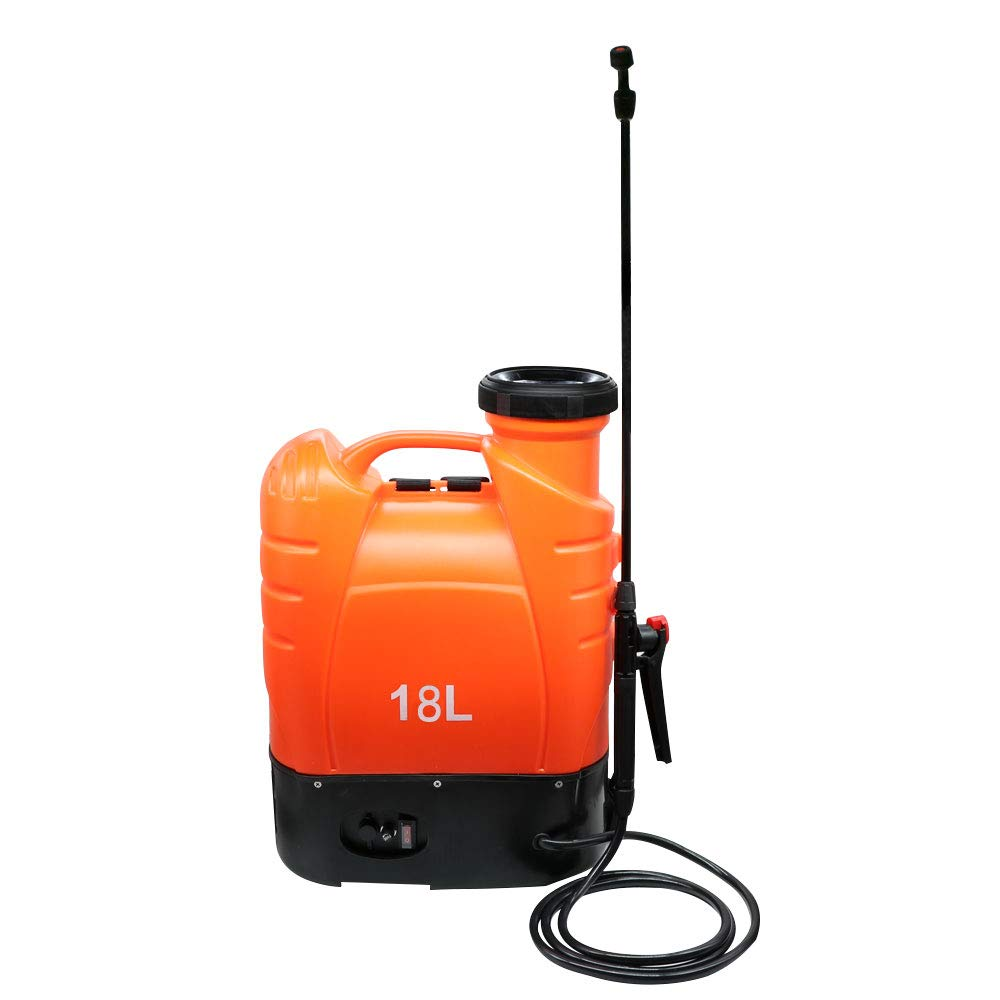 Beaugreen Battery Powered Backpack Sprayer Electric Weed Sprayer with Heavy Duty Pump for Garden Lawn Agriculture Spray (4.8 Gallon/ 18L-Orange) by Beaugreen