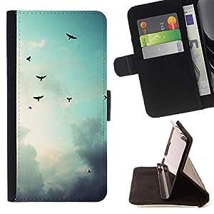 Momo Phone Case / Flip Funda de Cuero Case Cover - Aves cielo sombrío;;;;;;;; - Sony Xperia Z5 Compact Z5 Mini (Not for Normal Z5)