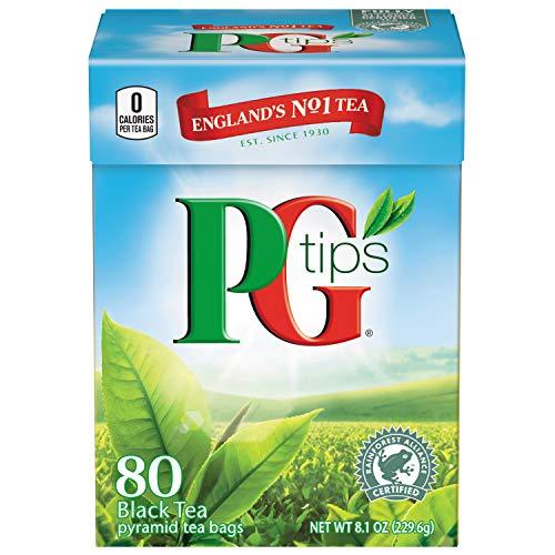 PG Tips Pyramid Bags, Premium Black Tea, 80 ct ()