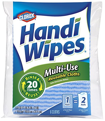 Clorox Handi Wipes Multi-Use Reusable Cloths, 6 Count (Pack of 5)