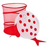 Ekea-Home Mesh Dustproof Cartoon Foldable Laundry Basket Animal Storage Bag Clothes Hamper Kid Toy Storage Red Fish