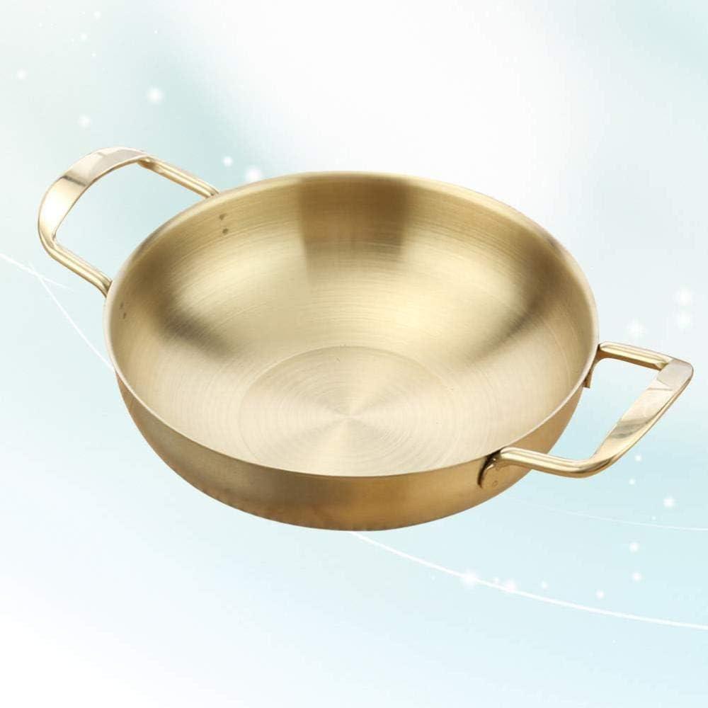 AFDK Tous les jours en acier inoxydable Mini Pan Casseroles Hot Pot Cooker - Diamètre intérieur 18cm, Argent,argent Or