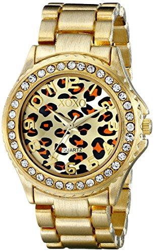 Gold Tone Leopard - XOXO Women's XO5631 Gold-Tone Leopard Dial Watch