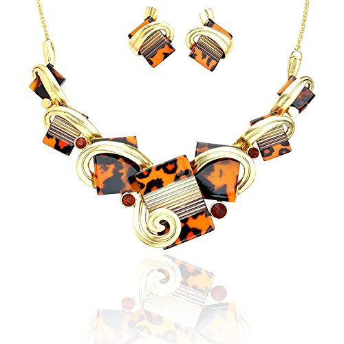 Ginasy Vintage Statement Necklace and Earrings Sets 16.94