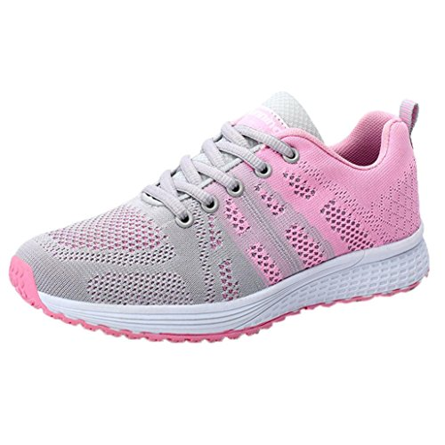 ad93631ca87 Aurorax-Shoes Women s Girls Mesh Lightweight Breathable Casual Wedges  Sneakers (Yoga Gray
