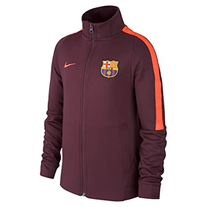 9ddb6a274 Amazon.com   Nike Youth FC Barcelona Jacket  Night Maroon  (L ...
