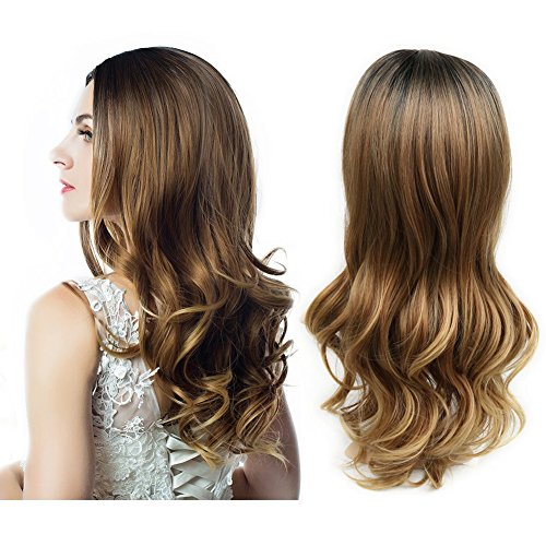 HANNE Ombre Color Long Weave Wig Heat Resistant Synthetic Hair 3 Tone Ombre Blonde Wigs for Women (3 Tone Ombre)