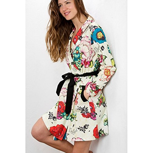 Desigual Housecoat Lovely Garden, Bata de casa para Mujer, Anis Flower S/M: Amazon.es: Ropa y accesorios