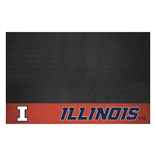 Fanmats NCAA University of Illinois Fighting Illini Vinyl Grill Mat