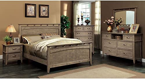 Amazon Com 24 7 Shop At Home Loxley Transitional Style Bleach Oak