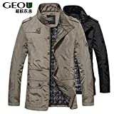 World2home 2018 Winter Men Jackets and Coats Leisure Windproof Thick Warm Jacket Men's Long Trench Coat Parka Clothing