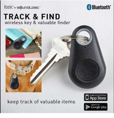 Track and Find Wireless Key/Valuables Finder. GPS Tracking and Geo Location for Keys, Phone, Wallet, Luggage and More, Black