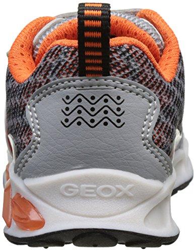 Geox J Shuttle a, Zapatillas para Niños Gris (Grey/orangec0036)