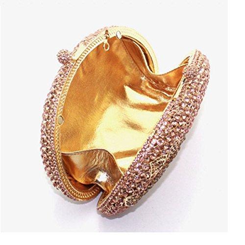 De à Sac Gold En Pour Soirée Luxe De Diamant Femmes Main Sac wAxx6TX