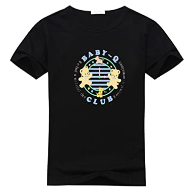 86bf74e55c92 Amazon.com  Mens Cute Bear T-Shirts Loose Summer Tops  Clothing