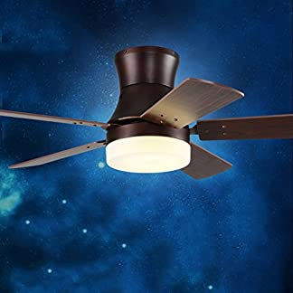 FJH Ultrathin Ventilatore a soffitto Luce LED Moderno Semplice Lampada Singolo Ventilatore Lampada lampadario Sala da Pranzo Soggiorno Bianco Ventilatore Elettrico 30w a Quattro Colori Cambiamento di