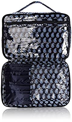 Vera Bradley Large Blush and Brush Makeup Cosmetic Case