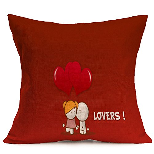 Weiliru Valentine's Day Pillow Cover for Couch Truck Forever Love Red Sweet Heart Decorations Cushion Case Sofa,Valentine's Gift