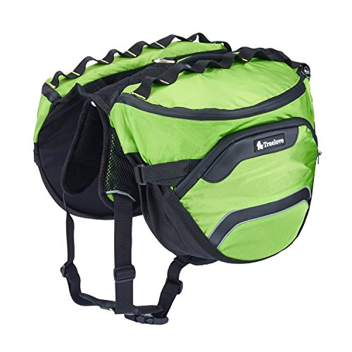 Pet Saddlebags Dog Backpack Waterproof Oxford Safety Reflective - Detachable Pack Instantly Turns into Harness