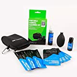 VSGO DKL-7 Camera Cleaning Kit DSLR Sensitive Electronics Convenience Package: Screen Lens Cleaner, Microfiber Cloth, APS-C Sensor Cleaning Swab, Air Blower Cleaner Carrying Bag, Green