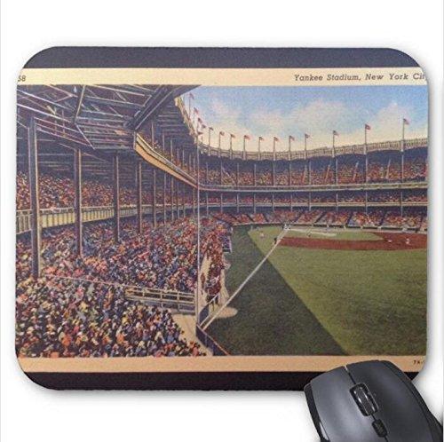 Yankee Stadium Desktop - Yankee Stadium Vintage Postcard Mousepad-11.8x9.8In