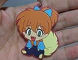 Inuyasha Rubber Mascot Swing Keychain~Shippo