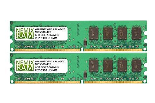 - 8GB (2 X 4GB) DDR2 667MHz PC2-5300 240-pin Memory RAM DIMM for Desktop PC