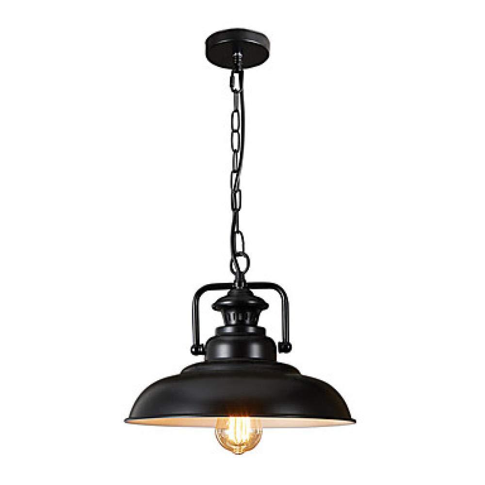 Industrielle schwarze Metalllampenschirmleuchter-Restaurantwohnzimmer-K/üchenbeleuchtung der amerikanischen Einzelkopfdeckelweinlese