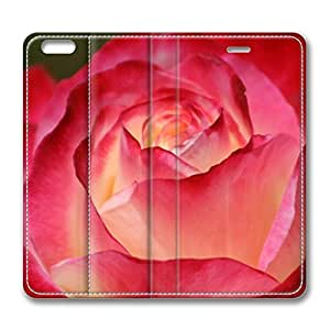 iPhone 6 4.7inch Leather Case, Beautiful Rose Personalized Protective Slim Fit Skin Cover For Iphone 6 [Stand Feature] Flip Case Cover for New iPhone 6