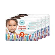 Honest Baby Diapers, Painted Feathers, Size 3, 136 Count