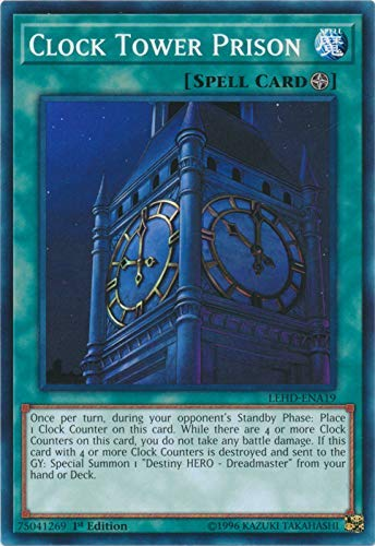 - Yu-Gi-Oh! - Clock Tower Prison - LEHD-ENA19 - Common - 1st Edition - Legendary Hero Decks - Destiny Hero Deck