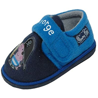 61f2439095a Peppa Pig George Boys Slippers Sizes 5-10 (Infant UK 8)  Amazon.co ...