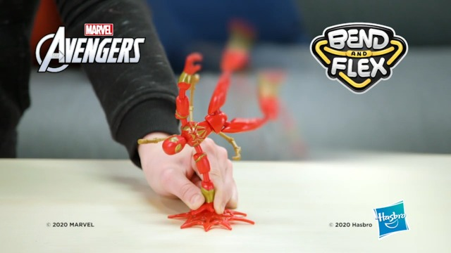 Spider-Man Marvel Bend and Flex Iron Spider Action Figure Toy, 6-Inch Flexible Figure, Includes Blast Accessories, for Kids Ages 4 and Up