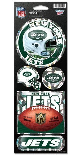 WinCraft NFL New York Jets Prismatic Stickers, Team Color, One Size