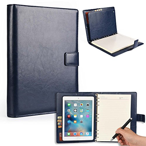 Cooper FOLDERTAB Padfolio Case Compatible with iPad Air 1 | Business Executive Organizer with Notepad | Vegan Leather, Left & Right Handed Binder, Notebook Refill, Pockets | Apple A1474, A1475 -