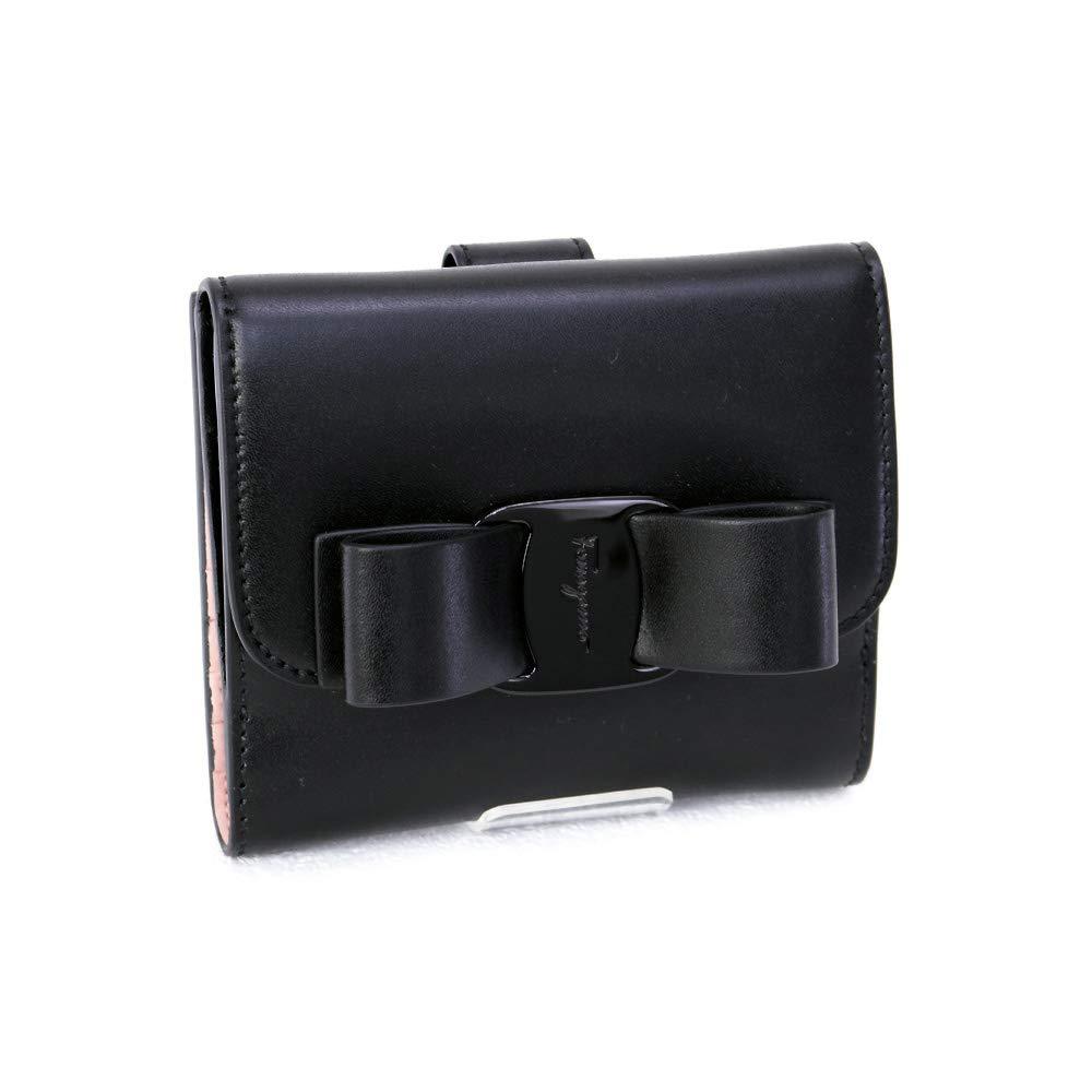 [サルヴァトーレ フェラガモ] Salvatore Ferragamo 財布 ヴァラリボン 折財布 カーフ ブラック (22 D268 0691208 NERO) 19SS [並行輸入品] B07QH9BS5L