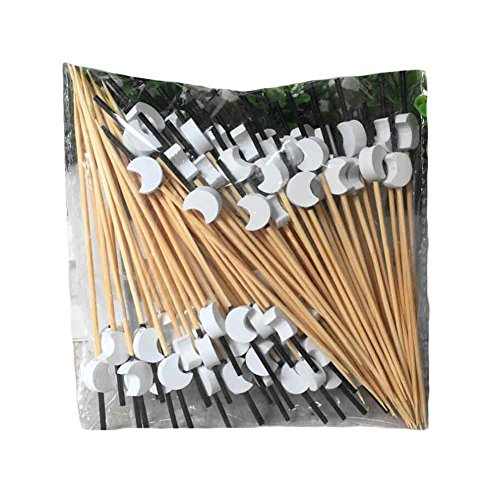 200 Pcs Party Supplies Disposable Fruit Picks Bamboo Cocktail Picks - Moon by Panda Superstore