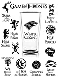 S-002 25pcs Game of Thrones Stickers Winter is Coming Fire and Blood MacBook Decal Vinyl Sticker Mac Air Pro Retina Laptop Stickers for Water Bottles