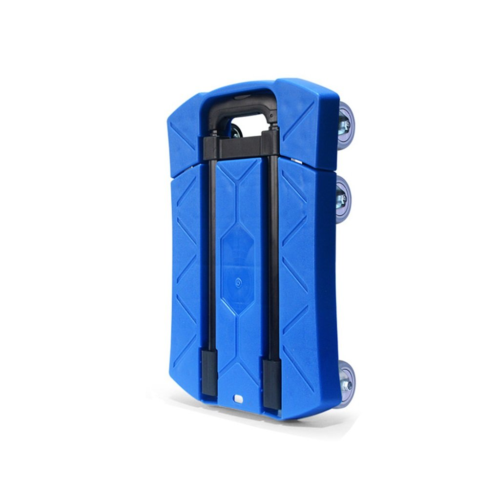 Jian E Folding Portable Small Trailer Household Pull Truck Carry A Flat Cart Loading King Luggage Cart Mute Trolley Hand Truck