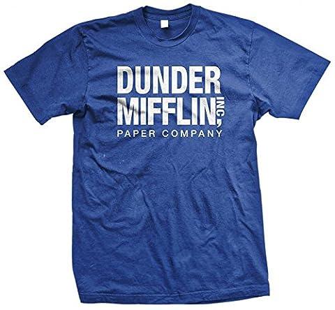 The Office TV Show Dunder Mifflin Paper Men's Royal Blue T-shirt XL - Office