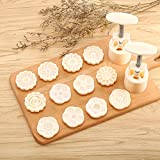 2 Pieces Moon Cake Mold Cutter...