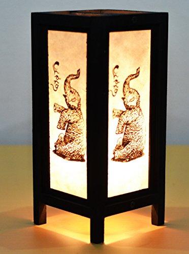 Decorative Lamp Thai Vintage Handmade Asian Oriental Chang Bedside Table Light Floor Wood Paper Lamp Shades Home Bedroom Garden Decoration Modern Design by I Love Handicraft