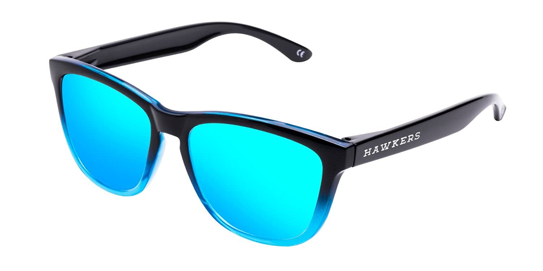 Hawkers Fusion Clear Blue, Gafas de Sol Unisex, Negro/Azul: Amazon ...