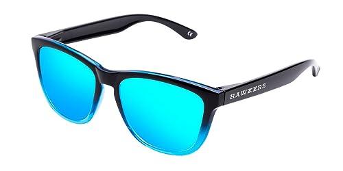 Hawkers Unisex - Adulto FTR02 Occhiali da sole, Blu (Negro / Azul), 60