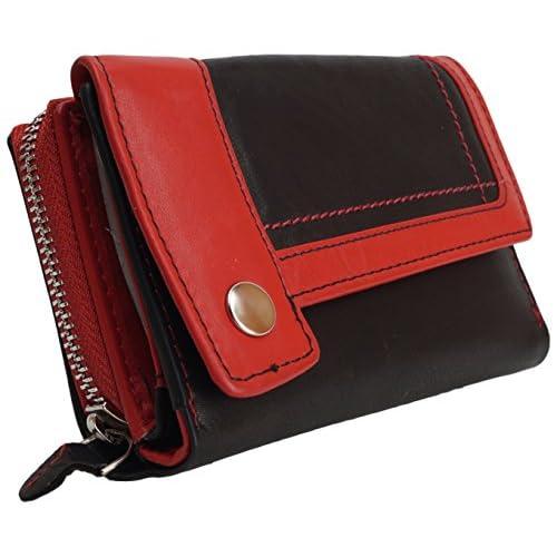 Damenbörse Geldbeutel Portemonnaie hochwertiges Leder Geldbörse Lederbörse