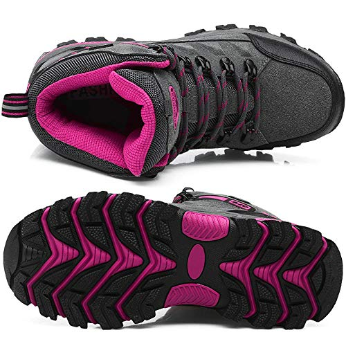 De Plein Haut tanches Lgres Hommes forme Chaussures Pour Trekking de Sport Bigu Gris Rose Baskets Randonne Femme Bottes Unisexe Air zd4qAz
